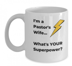Pastors Wife Superpower Coffee Cup Gift