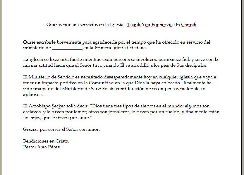 Spanish Church Letter Software Cartas Pastorales