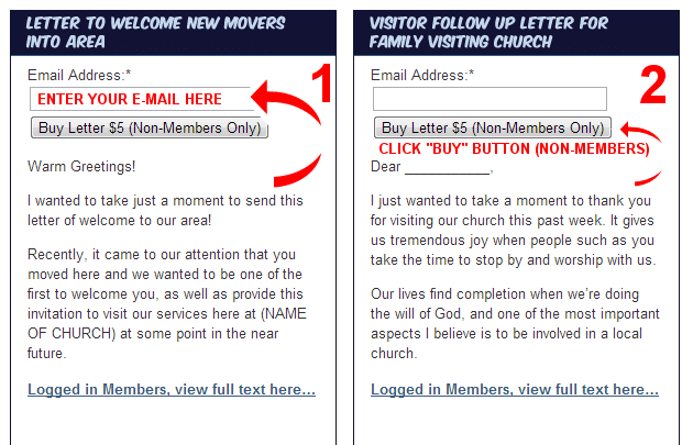 Individual Church Letters