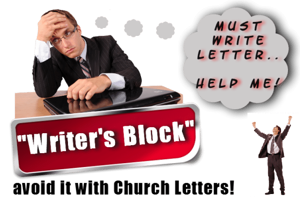 Defeat Writer's Block with Church Letters!