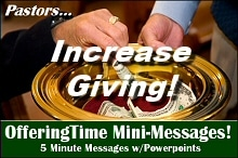 Pastors...Increase Giving with OfferingTime!
