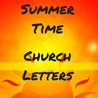 Summer Themed Church Letters