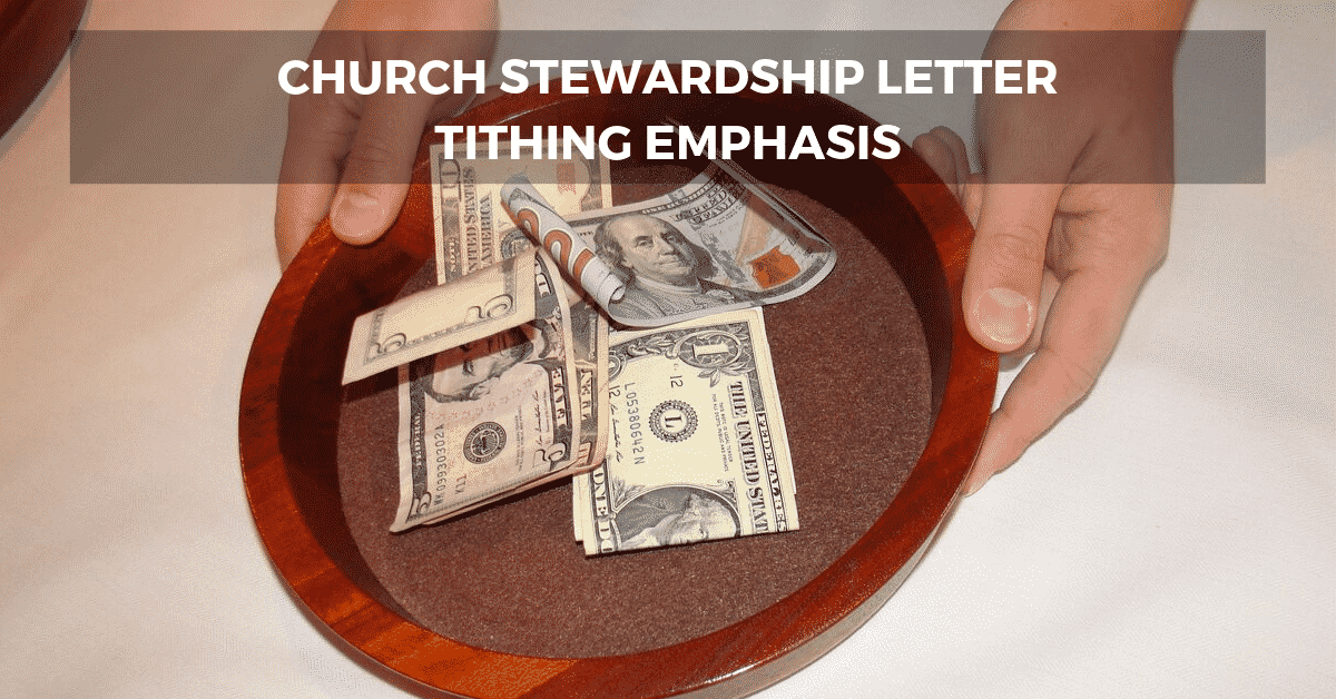 Church Stewardship Letter Tithing Emphasis