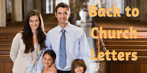 Back to Church Letters