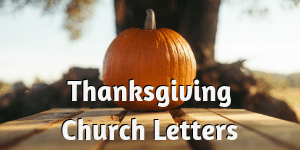 Thanksgiving Church Letters
