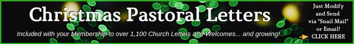 Christmas Pastoral Letters