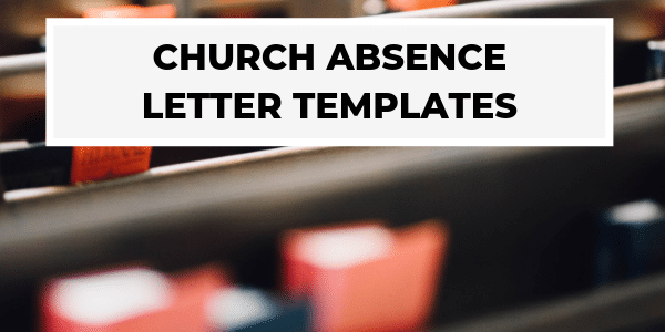Church Absence Letter Templates