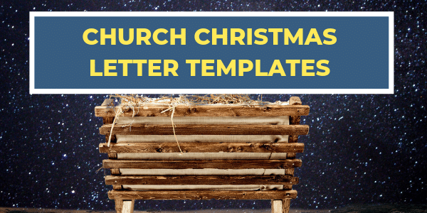 Church Christmas Letter Templates