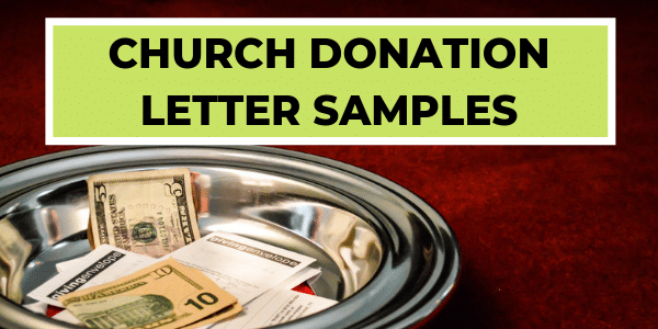 Church Donation Letter Samples