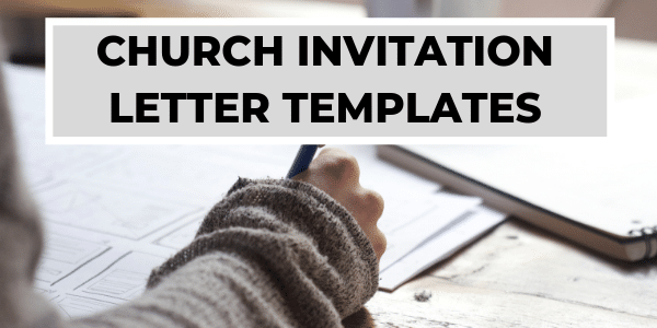 Church Invitation Letters - Invitation to Church Event