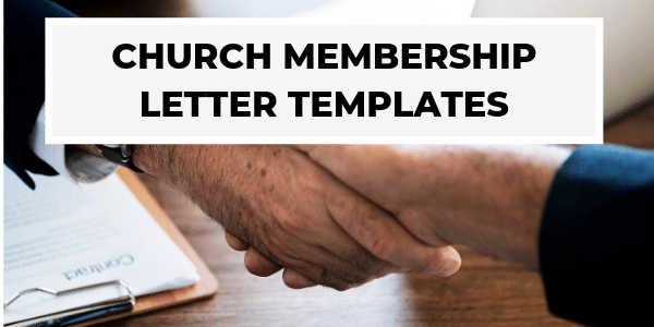 Church Membership Letter Templates