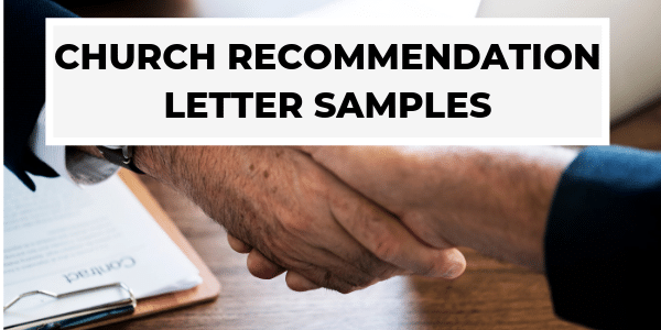 Church Recommendation Letter Samples