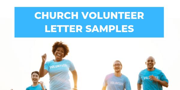 Church Volunteer Letter Samples