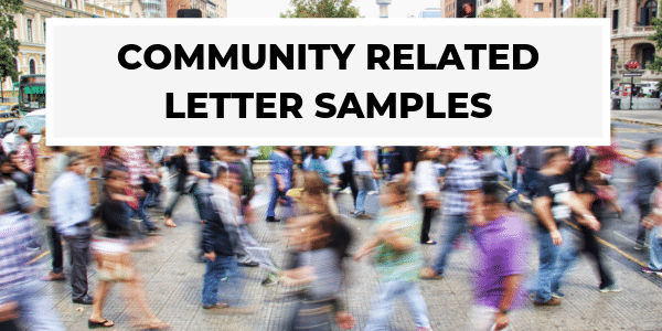 Community Related Letter Samples