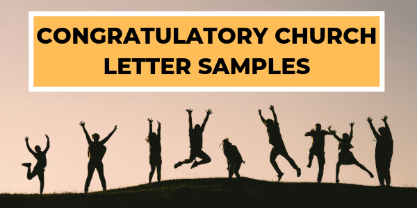 Congratulatory Church Letters