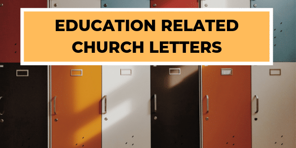 Education Related Church Letters