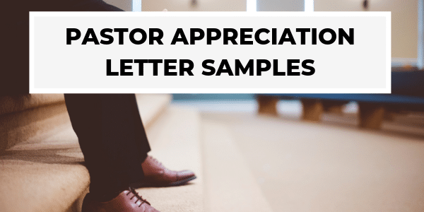 Pastor Appreciation Letters To Give Honor Where Due Churchletters Org