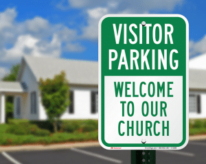 Church Visitor Parking Sign - Letter to Members and Regular Attendees