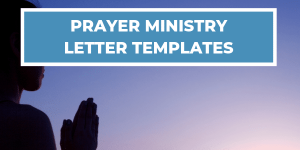Prayer Ministry Letter Templates