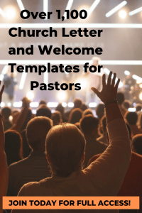 Church Letters and Church Welcome Ideas