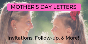 Mothers Day Church Letters