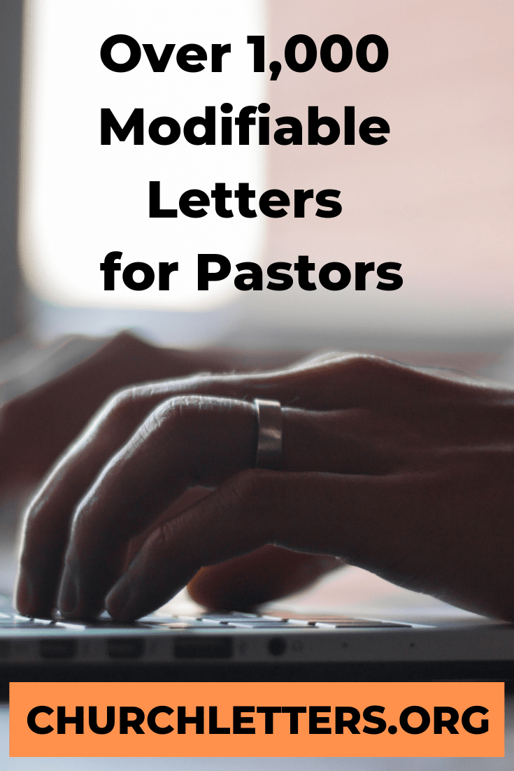 Church Letter Templates written by a Pastor for Ministries includes Membership Access to an expanding selection of over 1,100 Church Letter templates and Welcomes. 