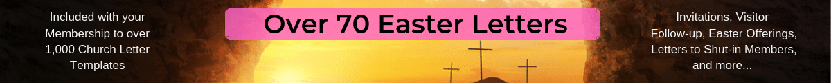 Church Easter Letters