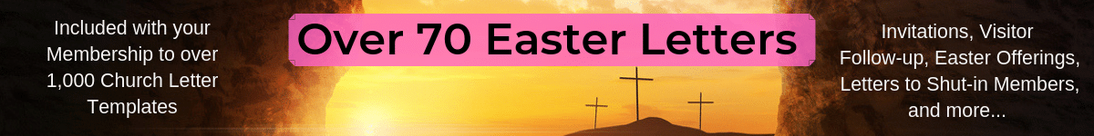 Over 70 Easter Letters included with Membership