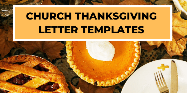 Church Thanksgiving Letter Templates