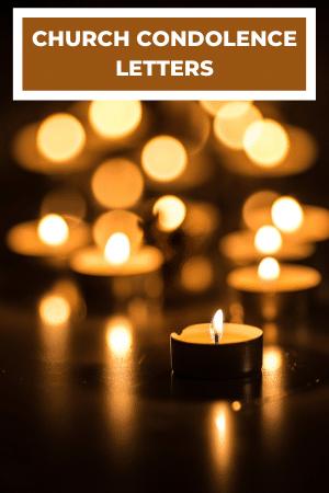 church condolence letter samples